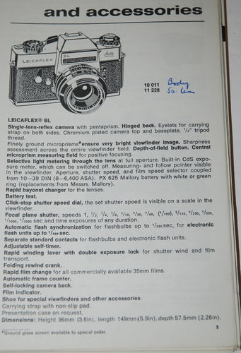 Leitz - Leica General Catalogue of Photographic Equipment 1974
